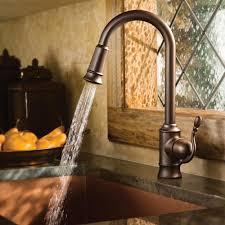 single handle pulldown kitchen faucet moen 7615orb woodmere one handle high arc pulldown kitchen faucet
