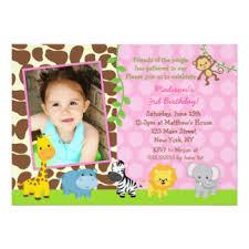 jungle birthday invitations u0026 announcements zazzle