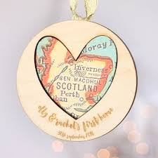Heart Map Personalised New Home Heart Map Decoration By And Bird