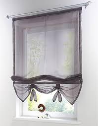 Tie Up Window Curtains Amazon Com Uphome 1pcs Liftable Organza Kitchen Balcony Curtains