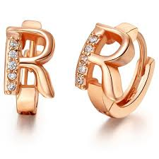 name plated earrings online shop gold plated gold letter stud earrings and your