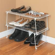 closetmaid stack and hang shelf white walmart com