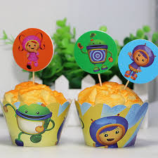 team umizoomi cake 12sets team umizoomi paper cupcake wrappers and toppers kids