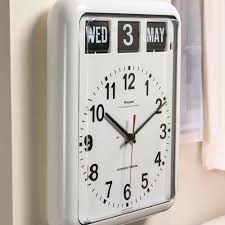 large calendar wall clock nrs healthcare