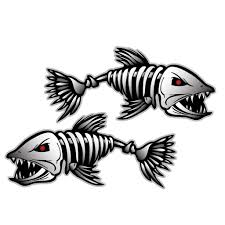 salt life decal skeleton fish bones vinyl decal sticker kayak fishing boat car