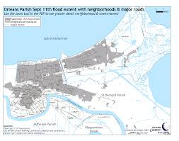 New Orleans Flood Zone Map by Reference Maps The Data Center