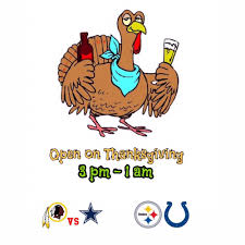 cus is open thanksgiving from 3 pm 1am escape from the fam and