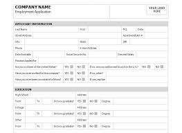 job application template free job appplication template