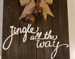 jingle bells sign etsy