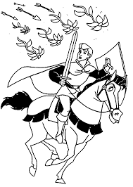 prince phillip and samson coloring pages wecoloringpage
