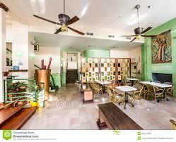 lobby of the art deco style colony hotel in miami editorial
