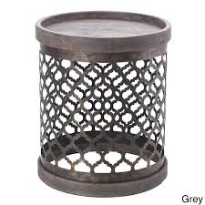 Grey Accent Table Top Drum Accent Table Metal Drum Side Table Products Bookmarks