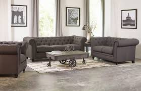 Grey Button Sofa 3 Piece Grey Linen Button Tufted Sofa Set By Coaster