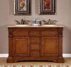 55 inch travertine bath furniture double sink bathroom vanity