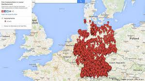 map germany controversial map displaying refugee homes causes a stir in