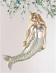 world mermaid ornament glass mermaid ornament