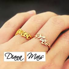 name ring gold custom name ring signature ring personalized name