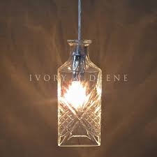Whiskey Bottle Chandelier Wine Decanter Pendant Light Crystal U2013 Ivory U0026 Deene Pty Ltd