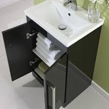 milano 800mm wall hung single drawer vanity unit gloss black