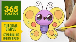 imagenes de mariposas faciles para dibujar como dibujar una mariposa kawaii paso a paso dibujos kawaii