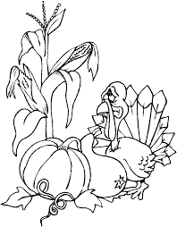 coloring turkey dinner happy thanksgiving coloring pages