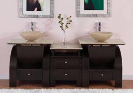 Bathroom Vanity For Vessel Sink Art Kallista 77 Inches Modern Double Vessel Sink Bathroom Vanity