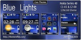 nokia c2 01 themes with tones blue lights live theme for nokia c1 01 c2 00 updated themereflex