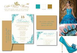 Invitation Card With Rsvp Gold Designs U2013 A Vibrant Wedding