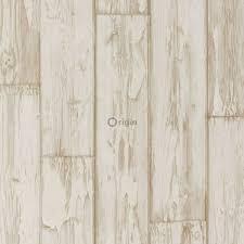 surface printed non woven wallpaper planking brown origin