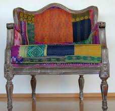Seating Upholstery Fabric Bold Upholstery Fabric Chair Upholstered In Bengali Kantha