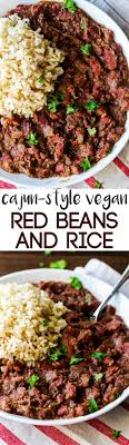 slow cooker red beans and rice cooking light cajun style vegan red beans and rice emilie eats