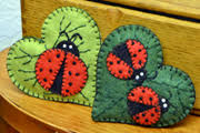 lumenaris products felt ornaments ladybug ornament