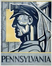 Pennsylvania travel posters images Poster of a coal miner pennsylvania 1937 world digital library png