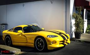 Dodge Viper Yellow - dodge viper gets stoptech big brake kit from modbargains