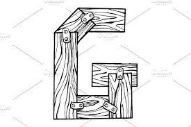 wooden letter g engraving vector illustration illustrations