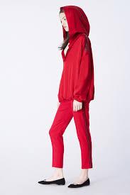 red hoodie red satin hoodie styland hoodie red styland inna