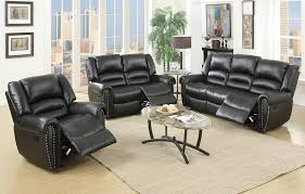 Leather Reclining Sofa Sets Black Leather Recliner Sofa