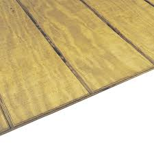 Tongue Side Of Laminate Flooring 23 32 In X 4 Ft X 8 Ft Southern Pine Tongue And Groove Plywood