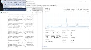 Cpu Info by C Cpu Usage Does Not Match Task Manager Performancecounter Or