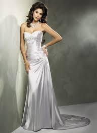 light gray bridesmaid dresses 156 29 light gray color elastic woven satin strapless chapel train