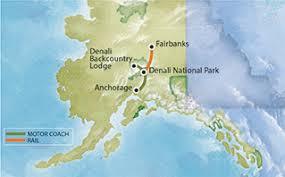 denali national park map denali national park six day tour gray line alaska