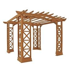 Pergola Kits Cedar by Amazon Com Yardistry Arched Roof Pergola Gazebos With Plinth