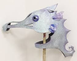 Seahorse Halloween Costume Seahorse Mask Holographic Glitter Effect Seahorse