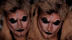 doll halloween makeup tutorial voodoo doll halloween makeup tutorial youtube