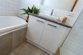 bathroom vanity by bourke u0027s kitchens benchtop petra stone