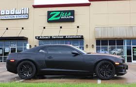 camaro black friday satin black camaro ss car wrap zilla wraps