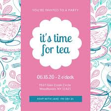 party invitation a party invitation tea party invitation templates canva safero adways