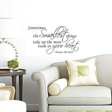 popular wall sticker pooh quote buy cheap wall sticker pooh quote something smallest sticker winnie the pooh quote sometimes the smallest things wall sticker vinyl decal home
