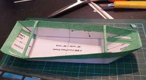 part 1 making a model for a coroplast folding boat