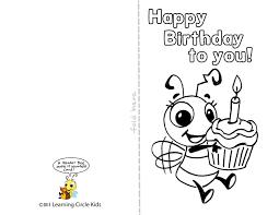 printable birthday card decorations diy free printable birthday card for kids to decorate and write